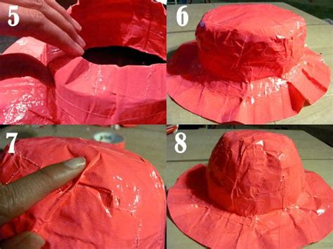 How To Make A Sun Hat Out Of Paper - duck brand duct sun hat tutorial sun hats hats and