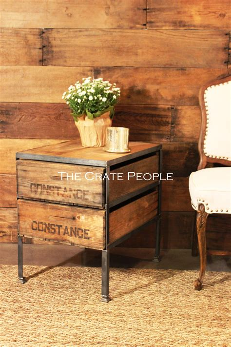 crate side table crate side table the crate