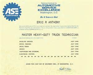 ase certificate template mobile equipment repair