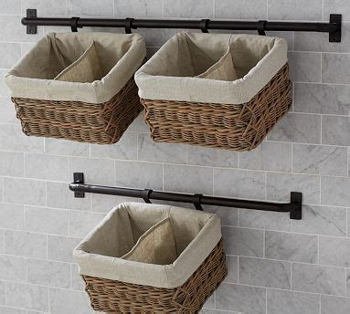 decorative bathroom systems hannah wall basket large storage system with 1 basket