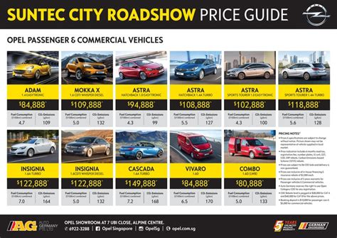 opel singapore singapore motorshow 2017 opel price list deals