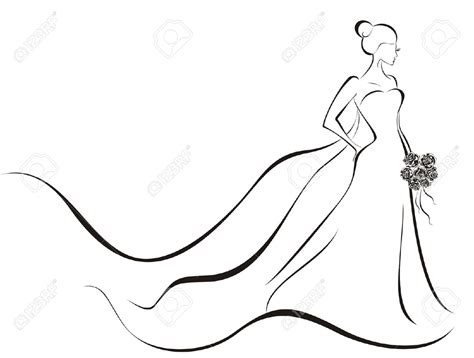 braut zeichnung clipart white wedding dress clipart collection bride