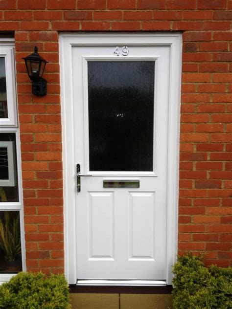 White Composite Front Doors White Composite Front Door 2 Dorking Glass