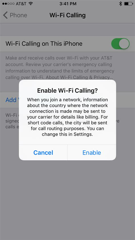 how to enable wi fi calling on iphone 7 7 plus ios 10