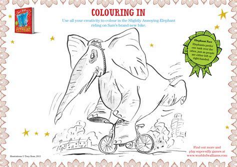 the slightly annoying elephant colour the slightly annoying elephant scholastic book club