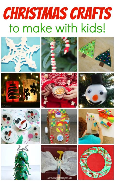 How To Make Holiday Crafts - christmas crafts to make with kids coffee cups and crayons