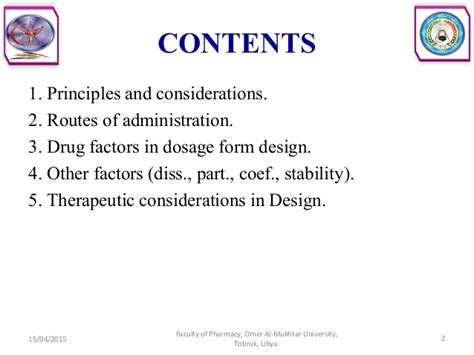 design dosage form introduction to dosage form design