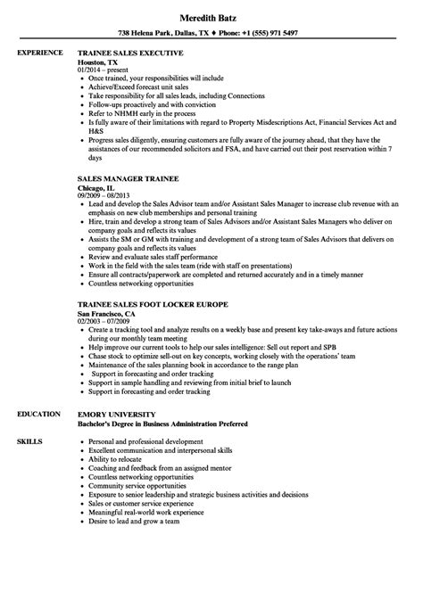 Graduate Trainee Sle Resume by Trainee Sales Resume Sles Velvet