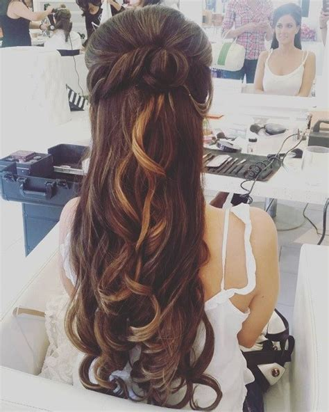 half up half down wedding hairstyles long hair half up half down wedding hairstyles 50 stylish ideas