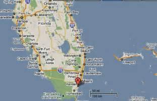 map of cutler bay florida sighting reports 2010