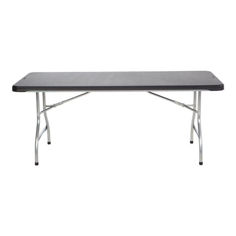 lifetime 4 foot table lifetime 6 ft almond adjustable height folding table