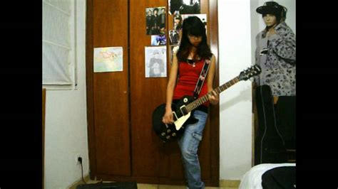 lindsay lohan guitar freaky friday ultimate you guitar cover youtube