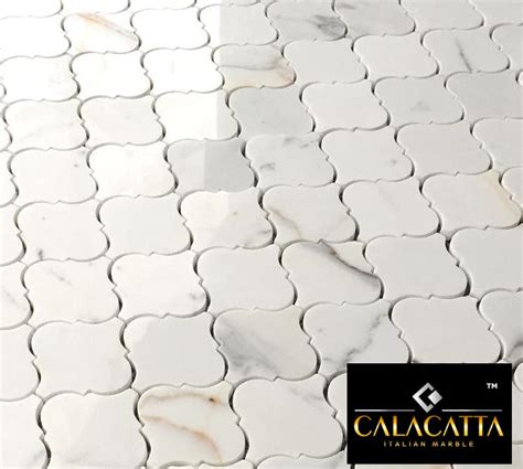 Natural Stone For Home Exterior - 19 95 free ship calacatta gold arabesque marble polished mosaic