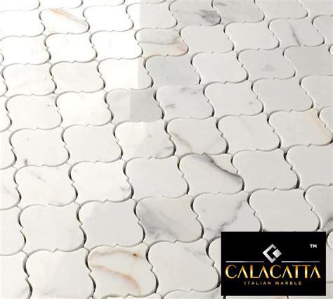 gold arabesque tile 19 95 free ship calacatta gold arabesque marble polished