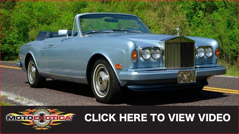 rolls royce vintage convertible 1984 rolls royce corniche convertible sold youtube
