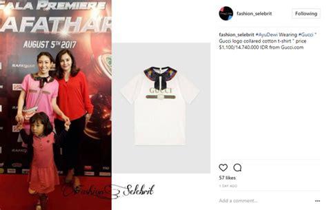 Harga Gucci Premiere dipakai saat premiere rafathar kaus ayu dewi