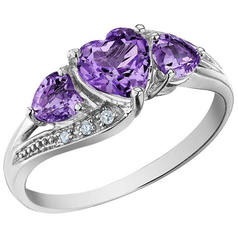 amethyst promise ring of l