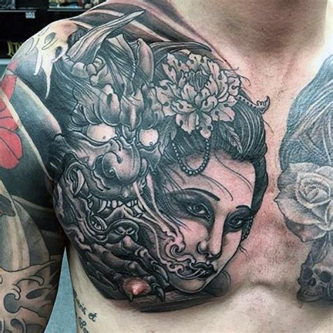 japanese chest tattoo designs 100 hannya mask designs for japanese ink ideas