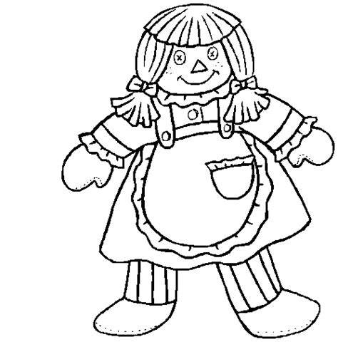 Doll Coloring Pictures 5 Doll Coloring Page