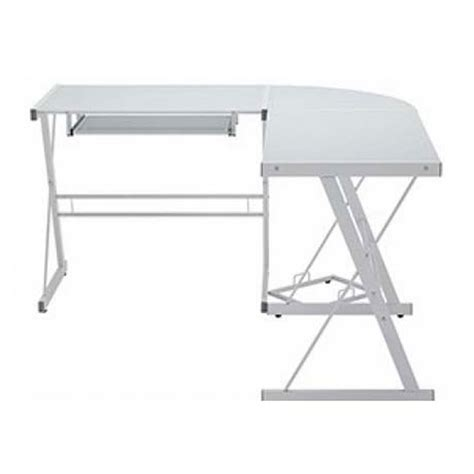 Edison Desk L by Walker Edison Soreno L Shaped Glass Computer Desk White
