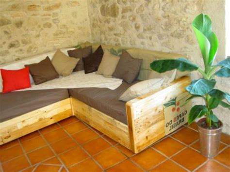 canape palette recup design palette banquette home design ideen