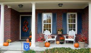 Decorating Ideas For Fall Front Porch Fall Decorating Around S Houses The Inspired Room