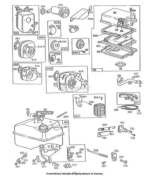 briggs and stratton fuel diagram briggs and stratton 132232 0397 01 parts diagram for