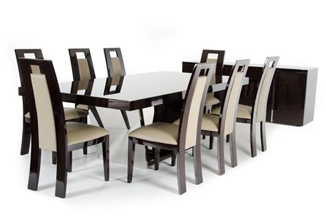 modern high dining table modrest christa modern high gloss dining table
