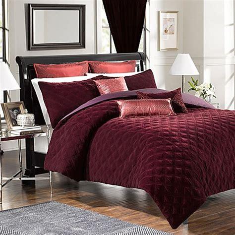 velvet comforter queen buy velvet full queen comforter and sham set in bordeaux