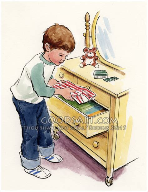 The Boy In The Drawer by Boy Putting Clothes In Drawer
