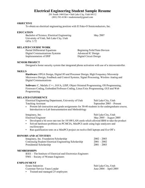 resume format  electrical engineers   perfect resume format