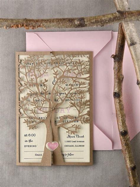 laser printed wedding invitations laser cut tree wedding invitations www imgkid the image kid has it