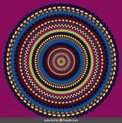 abstract colorful mandala vector free download
