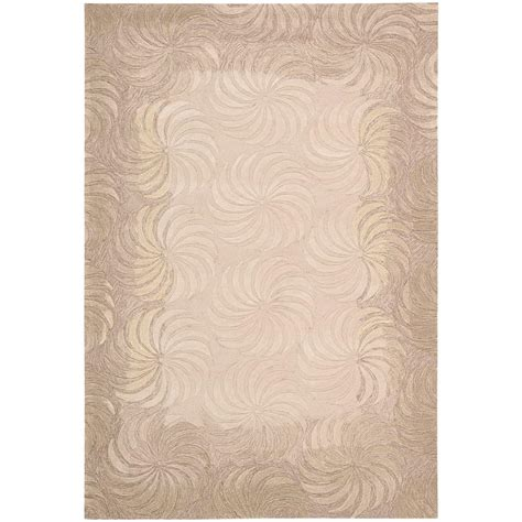 overstock rugs nourison overstock contour taupe 8 ft x 10 ft 6 in area rug 046543 the home depot