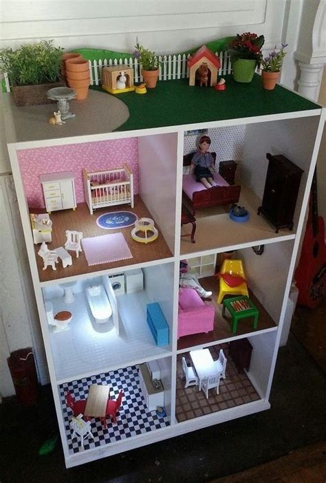 used dolls house bookshelf made into dollhouse diy projects pinterest dollhouses and bookshelves