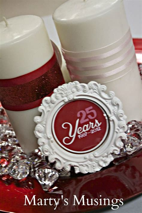 25 year wedding anniversary decor ideas