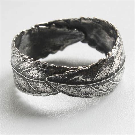 Handmade Mens Jewellery - handmade woodland unisex silver leaf ring by caroline