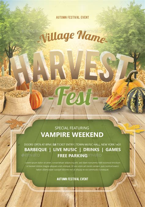 Harvest Festival Flyer By Monogrph Graphicriver Harvest Festival Flyer Free Template