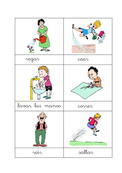 imagenes ingles verbos acciones con dibujos