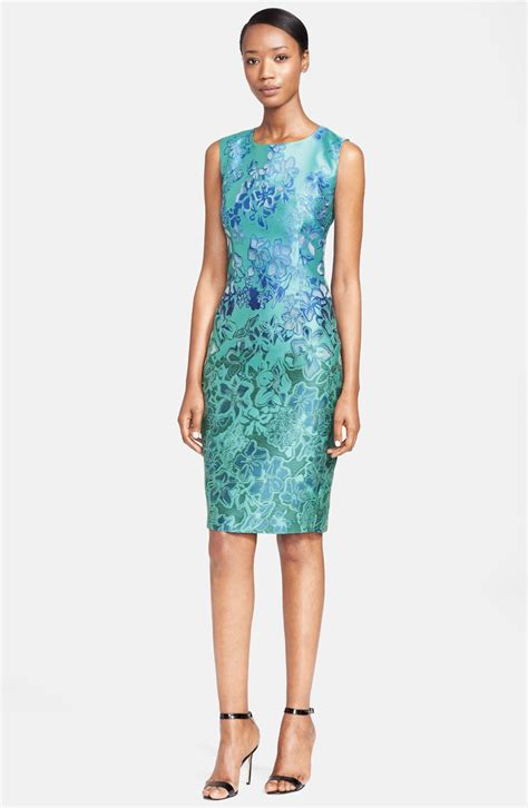 Dress Maxmara By Collection max mara morris sleeveless jacquard dress in blue turquoise lyst