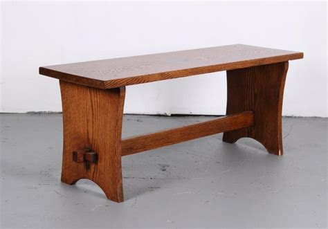 mortise and tenon bench arts and crafts style oak mortise and tenon bench