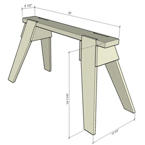 classic sawhorse plans  detail finewoodworking