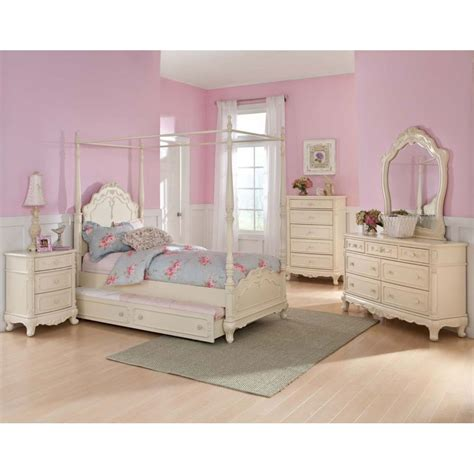 Girls Twin Bedroom Sets | details about twin canopy bedroom youth princess rebecca