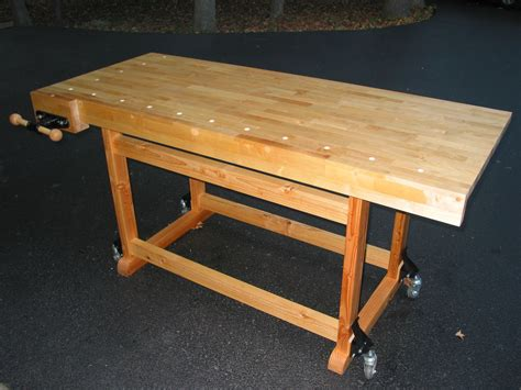 bench wheels wood work woodworking bench on wheels pdf plans