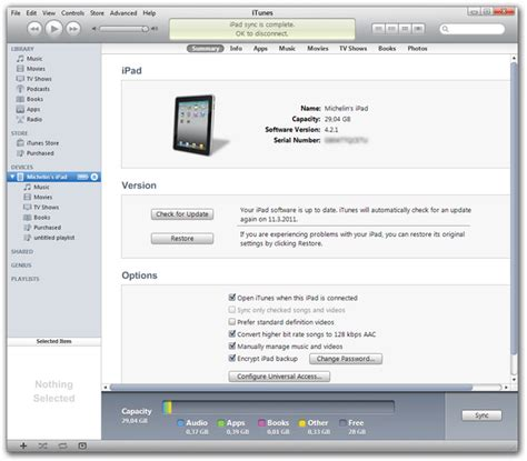 devices section in itunes how to backup iphone
