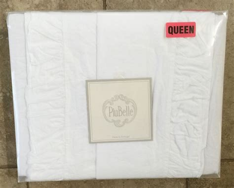 piubelle bedding piubelle portugal shabby cotton white ruffled chic queen