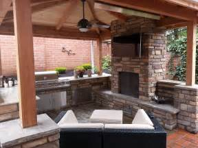 outdoor fireplace outdoor living outdoor kitchen