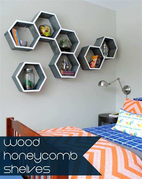 the make out room diy wood honeycomb shelves burger