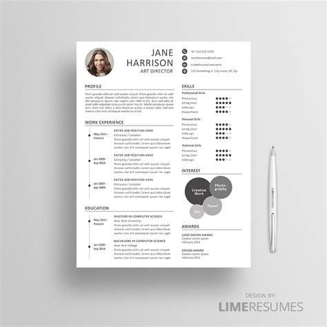 Resume Creative by Creative Resume Template For Creatives Limeresumes
