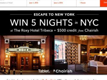 Ny Sweepstakes - tablet escape to new york sweepstakes